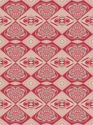 Fractal Digital Art - Raspberries And Cream by Keith Bowden
