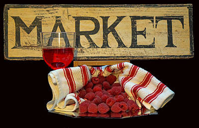 Photograph - Raspberries At The Market by Pamela Walton