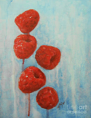 Painting - Raspberries by Jane See