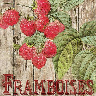 Raspberry Mixed Media - Raspberries by Marilu Windvand