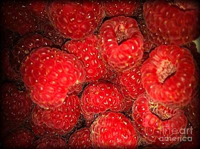 Photograph - Raspberries by Sylvie Leandre