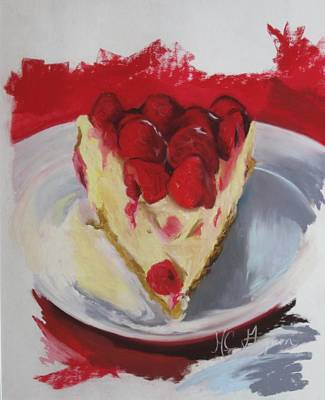 Raspberry And Cheese Art Print by Marie-claude Gagnon