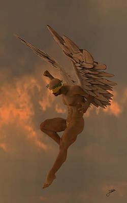 Seraphim Angel Digital Art - Raspberry Angel by Joaquin Abella