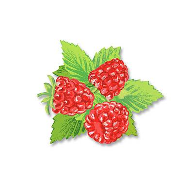 Digital Art - Raspberry Bunch  by Irina Sztukowski