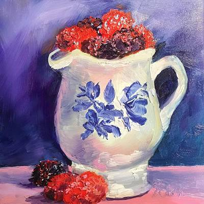 Painting - Raspberry Delights by Donna Pierce-Clark