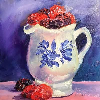 Raspberry Delights Art Print