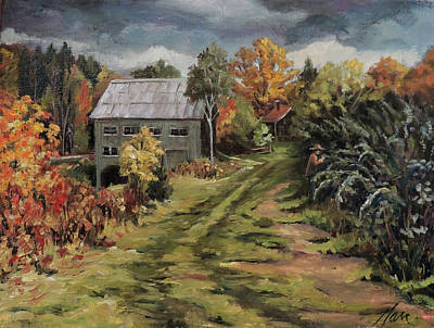 Painting - Raspberry Path by Nancy Griswold