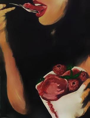 Raspberry Sorbet Art Print by Joel Cafiero