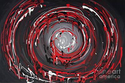 Painting - Raspberry Swirls by Preethi Mathialagan