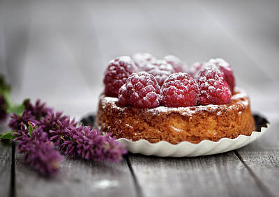 Cake Photograph - Raspberry Tarte by Nailia Schwarz