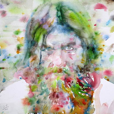 Painting - Rasputin - Watercolor Portrait.3 by Fabrizio Cassetta