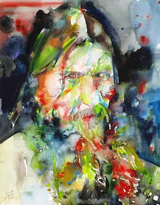 Russia Painting - Rasputin - Watercolor Portrait.4 by Fabrizio Cassetta