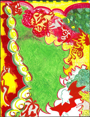 Painting - Rasta Land - Aerial by Gloria Von Sperling