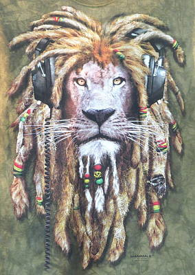 Photograph - Rasta Lion by David Rich