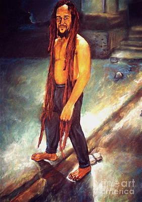 Rasta Drawing - Rasta Man by Curtis James
