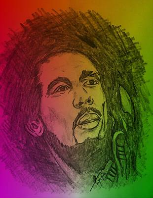 Onlin Drawing - Rastaman Exodus  by Collin A Clarke