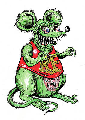Rat Fink Drawing - Rat Fink by Marco DiLeonardo