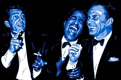 Blue Art Digital Art - Rat Pack At Carnegie Hall by DB Artist