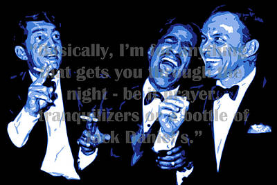 Frank Sinatra Digital Art - Rat Pack At Carnegie Hall With Quote by DB Artist