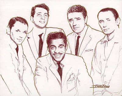Drawing - Rat Pack by Buena Johnson