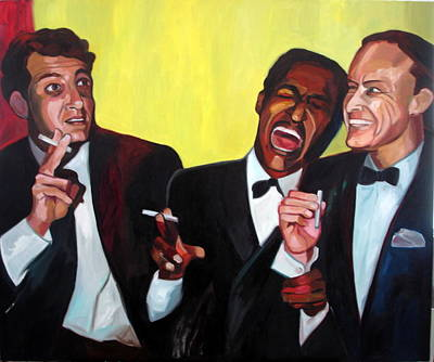 Rat Pack Art Print by Carmen Stanescu Kutzelnig