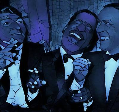 Oceans 11 Painting - Rat Pack Cool Graphic Abstract by Dan Sproul
