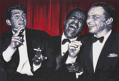 Shirley Painting - Rat Pack by Luis Ludzska