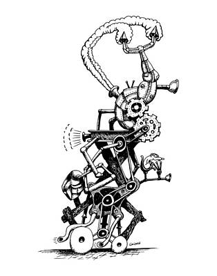 Drawing - Rat Reverse-cycle Steam Engine by Kim Gauge