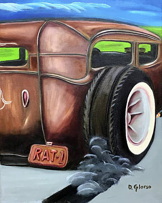 Painting - Rat Rod 1 by Dean Glorso