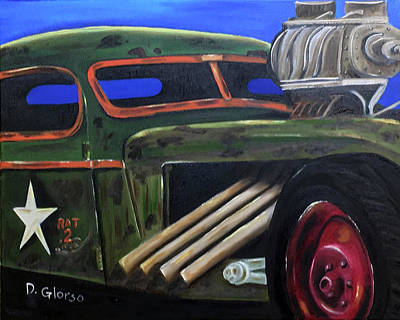 Painting - Rat Rod 2 by Dean Glorso