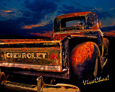 Rat Rod Chevy Truck Art Print