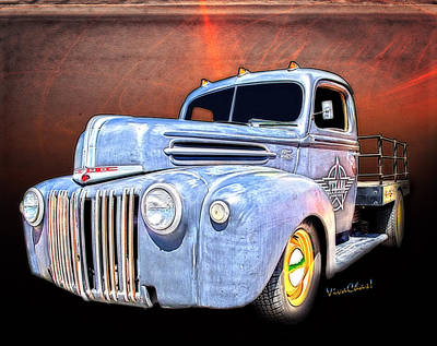 Rat Rod Flatbed Truck Texana Art Print