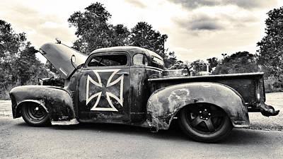 Photograph - Rat Rod Pickup by Susan Bordelon