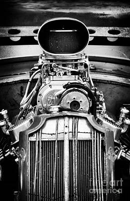 Monochrome Hot Rod Photograph - Rat Rod Power by Tim Gainey
