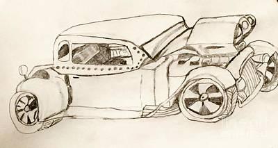 Street Rod Drawing - Rat Rod by Shylee Charlton
