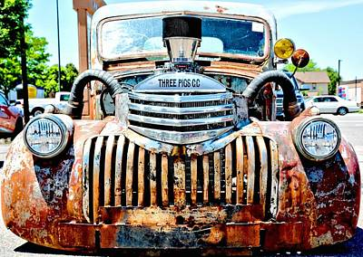 Photograph - Rat Rod - Three Pigs by Amy McDaniel