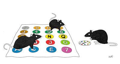 Drawing - Rat Twister by Seth Fleishman