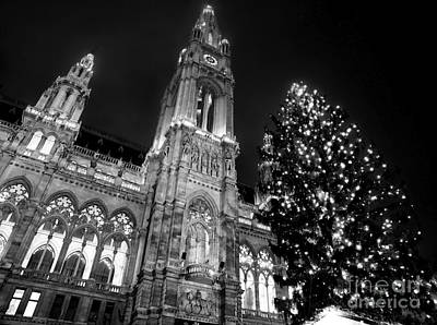 Photograph - Rathaus Christmas Tree by John Rizzuto