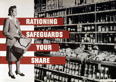 1940s Fashion Photograph - Rationing Safeguards Your Share, World by Everett