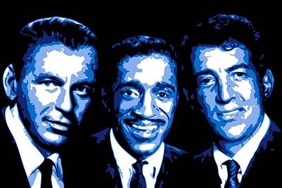 Frank Sinatra Digital Art - Ratpack by DB Artist