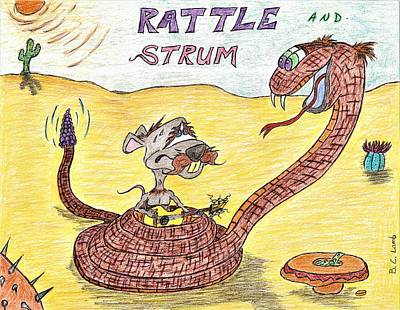 U2 Drawing - Rattle And Strum by Bryant Lamb
