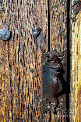 San Xavier Photograph - Rattlesnake Door Handle Mission San Xavier Del Bac by Thomas R Fletcher