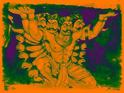 Ravana Digital Art - Ravana by Bliss Of Art