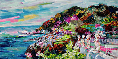 Painting - Ravello Amalfi Coast Villa Cimbrone by Ginette Callaway