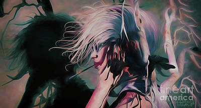 Digital Art - Raven 1   by Georgina Hannay
