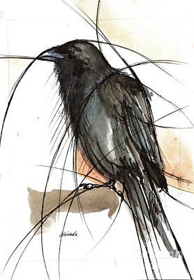 Painting - Raven 2018 05 26 by Angel Ciesniarska