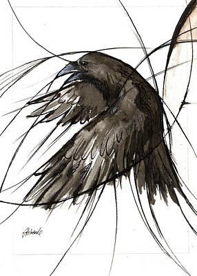 Painting - Raven 2018 05 27 by Angel Ciesniarska
