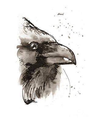 Painting - Raven 2018 05 29 by Angel Ciesniarska