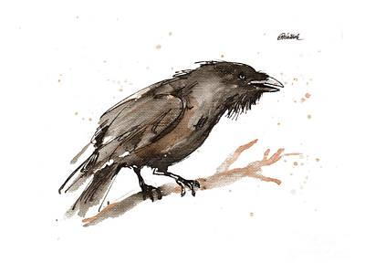 Painting - Raven 2018 05 30 by Angel Ciesniarska
