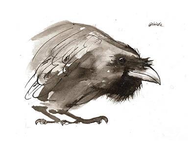 Painting - Raven 2018 05 31 by Angel Ciesniarska